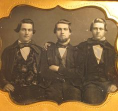 Sixth Plate Daguerreotype Three Gents