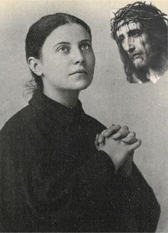 """Saint Gemma Galgani suffered the Stigmata and also was a Mystic of the Church. Jesus presented St. Gemma to His Blessed Mother and said,""""This dear daughter of Mine you must regard as a daughter of My Passion"""". Jesus would appear to St. Gemma on Thursday evenings and take His Crown of Thorns off His Head and offer it to her that she would suffer in union with Him for poor souls. brenda flateau"""