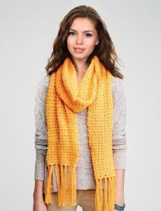 Simply Straight-Up Crochet Scarf free pattern