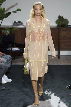 Jason Wu SS17 New York Fashion Week Trends Image via Vogue.com  transparent coat, spring fashion, women style