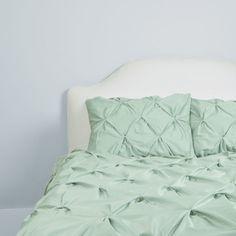 400 Thread Count Pintuck Duvet Cover, The Valencia Seafoam Green - traditional - duvet covers - san francisco - Crane & Canopy