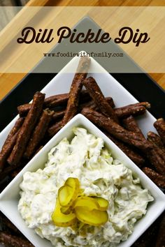 Use Dill Pickle Dip as dip or spread on hamburgers or deli sandwiches for pickle lovers in your life. foodiewithfamily.com