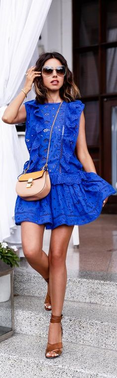 ZIMMERMANN Hyper broderie anglaise cotton dress // Fashion Trend by VivaLuxury