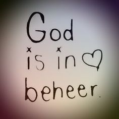 God is in beheer. Hy is liefde. Faith Quotes, True Quotes, Bible Quotes, Bible Verses, Worship Quotes, Yes And Amen, Afrikaanse Quotes, Inspirational Qoutes, Peace Of God