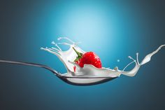 Strawberry Splash by wayne myers on Fotoblur | Food Photography