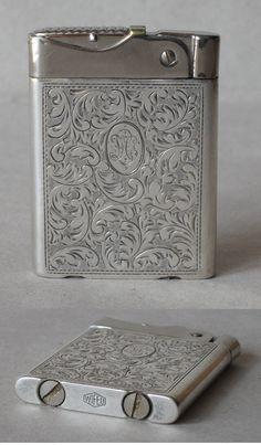 Antique Luxurious Unusual Silver Double Petrol Cigarette Lighter Wifeu | eBay