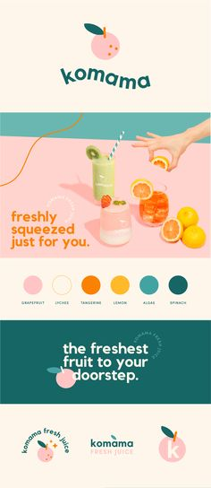 Web Design, Logo Design Tips, Food Graphic Design, Brand Identity Design, Graphic Design Illustration, Graphic Design Inspiration, Branding Design, Branding And Packaging, Juice Branding