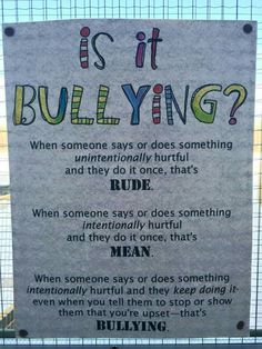 Is it bullying? In school, in parenting, in life in general....