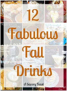 12 Fabulous Fall Drinks