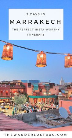 Love exploring new, instagrammable places? Then Marrakech is the one. This awesome itinerary for 3 days in Marrakech will get you to all the most popular spots, the tastiest restaurants, the best views and the perfect places to get those insta-pics. Featuring the medina, Jemaa el-Fnaa, La Mamounia Hotel, Bahia Palace, Le Jardin, Ben Youssef Madrasa, Jardin Majorelle, Tanneries, Le Riad Yasmine, Koutoubia Mosque, Essaouira, Camels & Nomad Rooftop Restaurant.