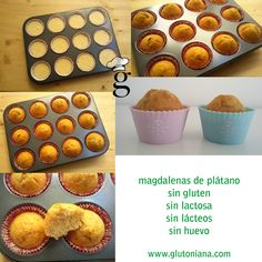 Cupcakes without-without-sin - Cómod - Muffins Gluten Free Deserts, Gluten Free Bakery, Foods With Gluten, Vegan Gluten Free, Gluten Free Recipes, My Recipes, Sweet Recipes, Dairy Free, Pan Dulce