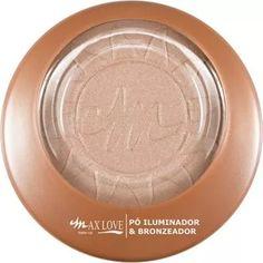 Pó Iluminador E Bronzeador Max Love - R$ 17,50