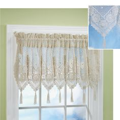 Crochet Patterns Valances : ... Crocheted Valances on Pinterest Valances, Filet crochet and Valances