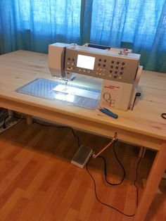 I've been thinking about making my own custom sewing table for quite some time now. I guess having a new house and a whole room for sewing ...