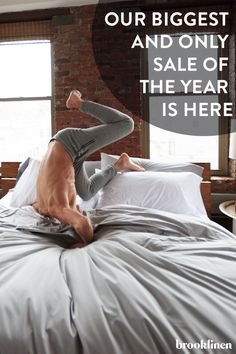 Up to 20% off on our biggest and only sale of the year! Every great sleep begins with great sheets, and Brooklinen has created a whole line of luxuriously comfortable sheets, pillows and comforters. Shop them all at Brooklinen.com.