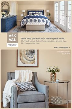 Unsure about what color to use for your next project? Let us help! Bedroom Decor For Couples, Home Decor Bedroom, Living Room Decor, Bedroom Ideas, Paint Colors For Home, House Colors, Style At Home, Home Design Decor, Interior Design