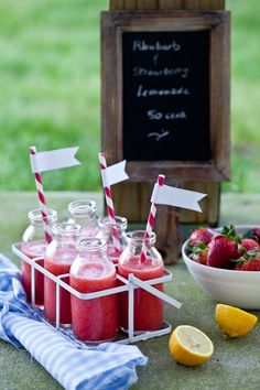Rhubarb And Strawberry Lemonade by tartelette #Lemonade #Rhubarb #Strawberry #tartelette