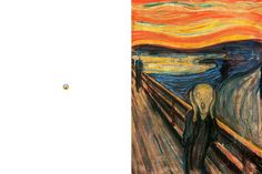 Interesting concept but we're wavering about whether or not we think this borders on sacrilegious. The Scream by Edvard Munch.