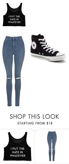 """""""whatever"""" by j-o-h-n-a-t-h-a-n ❤ liked on Polyvore featuring Topshop and Converse"""