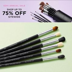 Semi-Annual Sale up to 75% off sitewide Semi Annual Sale, Shop Up, Beauty Sale, Makeup Brushes, Beauty Makeup, Makeup, Beauty Makeover