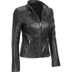 handmade women Black Leather Jacket  women Black by ukmerchant, $149.99