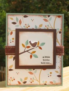 Little Fall Birdie by maryrose - Cards and Paper Crafts at Splitcoaststampers