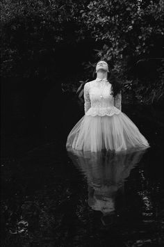 "Three Rivers Deep (book series) ""A two-souled girl begins a journey of self… Art Photography, Fashion Photography, Southern Gothic, Inspiration Art, Mystique, Tulle, Black And White Photography, Ethereal, Flower Girl Dresses"
