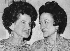 """Rose Kennedy and the Duchess of Windsor, at a private party following the opening of the film """"A King's Story"""", 1967."""