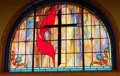 Stained Glass Windows at Mt. Holly United Methodist Church in Rock Hill, SC