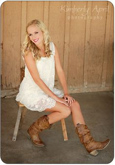 White dress with my coming soon cowboy boots :) perhaps for a rehearsal dinner! ;)