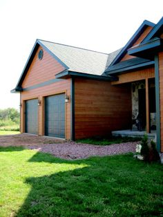"""LP® SmartSide® 8"""" lap siding pre-finished with Diamond Kote® in  Mahogany."""