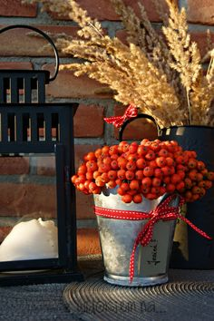 rowan Thanksgiving Decorations, Seasonal Decor, Holiday Decor, Fall Home Decor, Autumn Home, Ikebana Flower Arrangement, Vibeke Design, Lavender Wreath, Flower Boxes