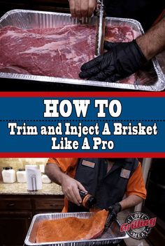 How To Trim and Inject A Brisket Like A Professional Pitmaster Brisket Marinade, Brisket Meat, Smoked Beef Brisket, Bbq Meat, Smoked Ribs, Meat Rubs, Smoked Meat Recipes, Grilling Recipes, Grilling Tips
