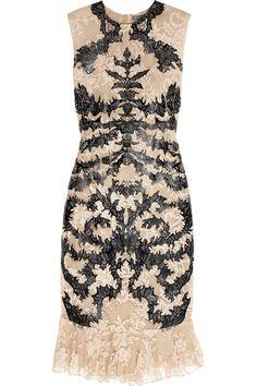 laser-cut patent leather & lace dress alexander mcqueen s/s/2012 net-a-porter