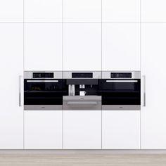 This kitchen illustrates the design potential using Miele appliances