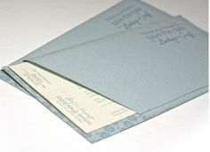 The stitched airplane ticket pocket held both the invitation directions and