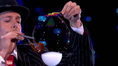 Magician Denis Lock performs bubble blowing skills | LIVE London Palladi...