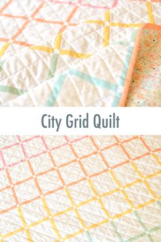 City Grid Modern Solids Quilt