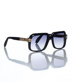 CAZAL Sunglasses Clear frames Tinted lenses Gold and clear arms Interchangeable set of clear lenses and lense cleaning cloth included