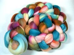 Amish Quilt 2 Merino Wool Top for spinning and by yarnwench, $17.43