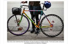 """""""The five layer powder coating was painstaking painted by UV Metal Arts in Bridgeport [Chicago]."""""""