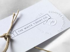 The White T-Shirt Co: Embossed gift tag