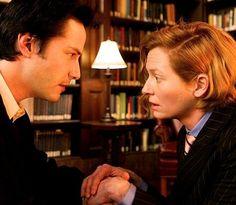 keanu reeves and Tilda swinton in constantine (2005)