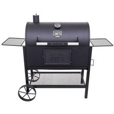Oklahoma Joe's Judge Black Charcoal Grill at Lowe's. The Oklahoma Joe's® Judge Charcoal Grill combines superior control elements with heavy-duty, high-capacity grilling. Its rugged steel construction Oklahoma Joe Smoker, 30 Burgers, Best Charcoal, Charcoal Bbq, Charcoal Smoker, Cast Iron Grill, Strip Steak, Stay Cool, Black