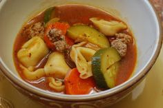 """Point-less"" Meals: Italian Tortellini Sausage Soup"