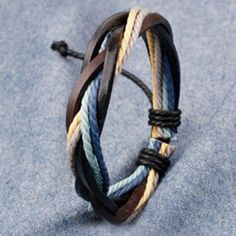 Retro Faux Leather Rope Twisted Bracelet For Men-1.55 and Online Shopping | GearBest.com Mobile