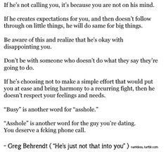 How to know if hes just not into you