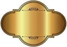 Золотая этикетка роскошный шаблон PNG клипарт картинка