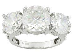 Charles Winston For Bella Luce (R) 13.94ctw Round Rhodium Plated Silver Ring