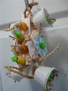 Bzzzz Soft Wood Parrot Toy by crystalsbirdtoys